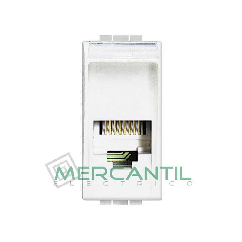 Base RJ11 - 4 Conectores 1 Modulo Living Light BTICINO Blanco
