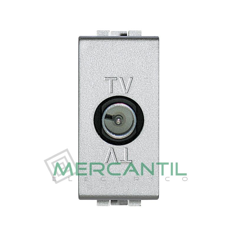 Base Unica TV - SAT 1 Modulo Living Light BTICINO - Sin Paso de Corriente Tech