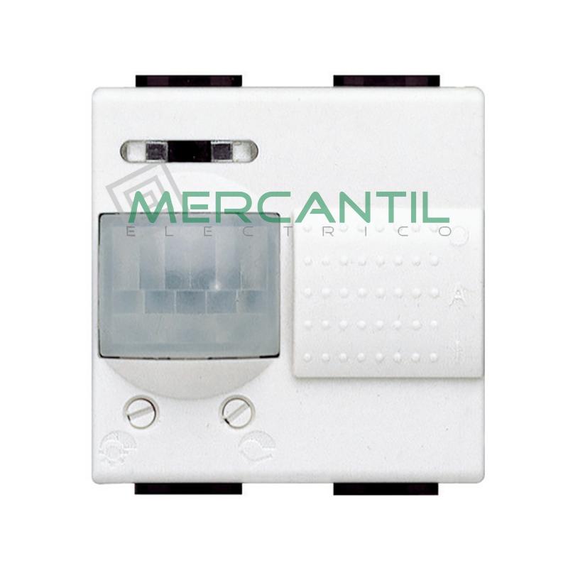Interruptores de Rayos Infrarrojos Pasivos 2 Modulos Living Light BTICINO Blanco