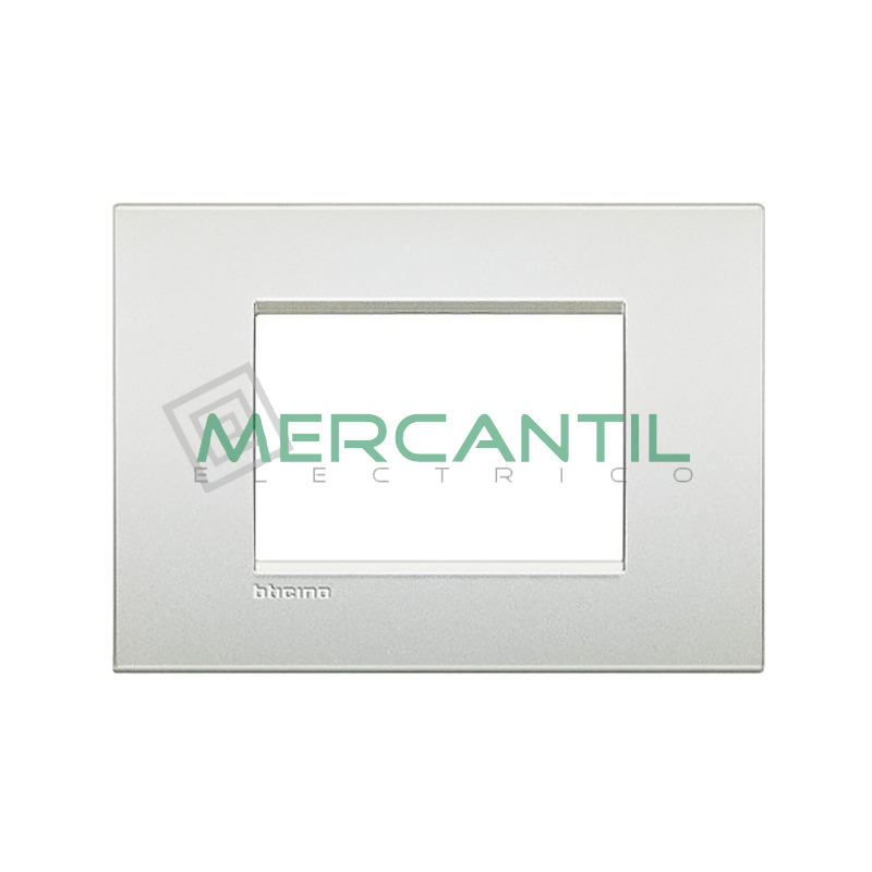 Marco Cuadrado Rectangular Living Light Air BTICINO - Color Blanco Perla 3 Modulos Cuadrada Rectangular Blanco Perla