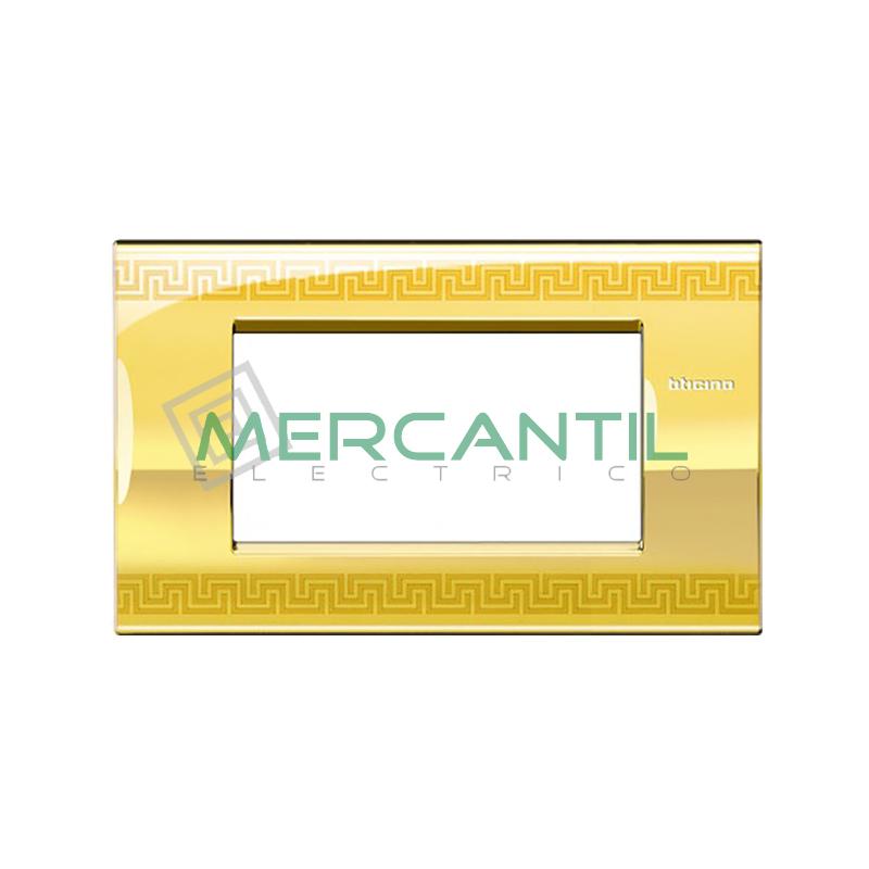 Marco Cuadrado Rectangular Living Light Air BTICINO - Color Greek 4 Modulos Cuadrada Rectangular Greek