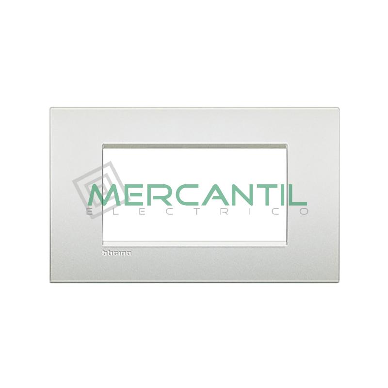 Marco Cuadrado Rectangular Living Light Air BTICINO - Color Blanco Perla 4 Modulos Cuadrada Rectangular Blanco Perla