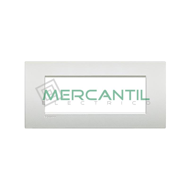 Marco Cuadrado Rectangular Living Light Air BTICINO - Color Blanco Perla 7 Modulos Cuadrada Rectangular Blanco Perla