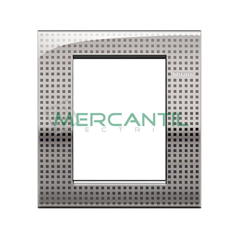 Marco Cuadrado Rectangular Living Light Air BTICINO - Color Net 3+3 Modulos Cuadrada Rectangular Net