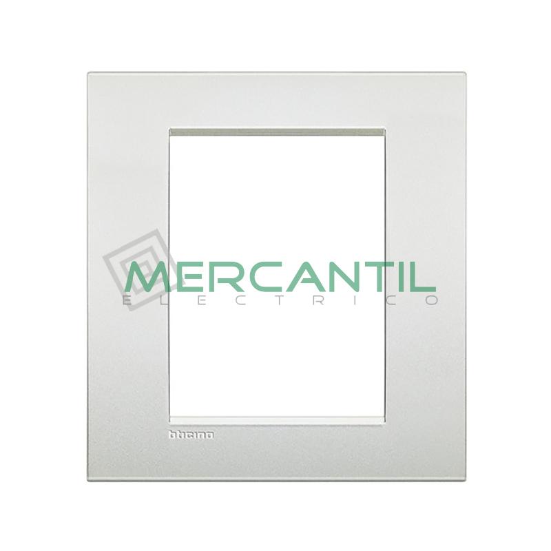 Marco Cuadrado Rectangular Living Light Air BTICINO - Color Blanco Perla 3+3 Modulos Cuadrada Rectangular Blanco Perla