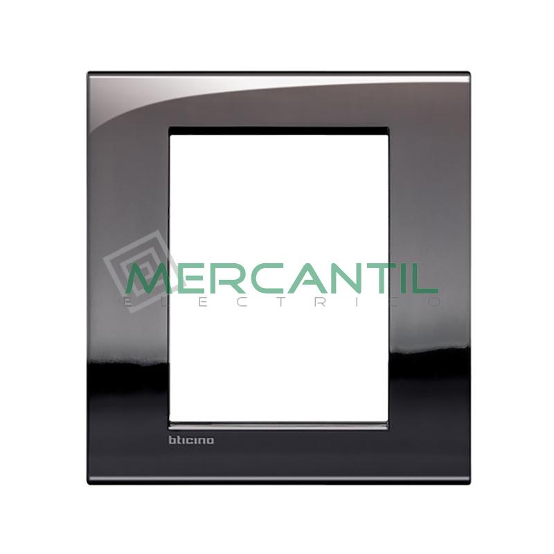 Marco Cuadrado Rectangular Living Light Air BTICINO - Color Estaño 3+3 Modulos Cuadrada Rectangular Estaño