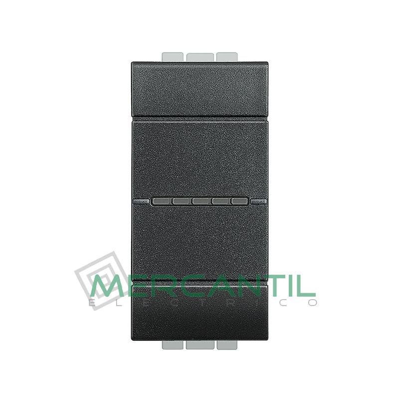 Interruptor Iluminable Axial 1 Modulo Living Light BTICINO - Embornamiento Automatico Antracita