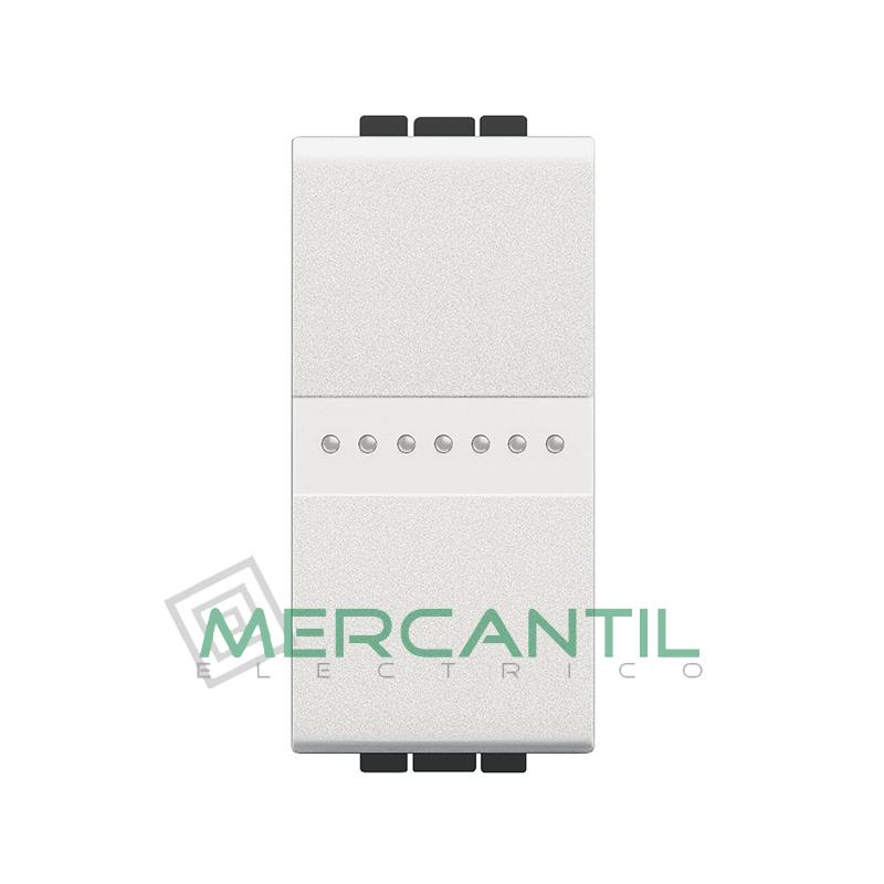 Interruptor Iluminable Axial 1 Modulo Living Light BTICINO - Embornamiento Automatico Blanco