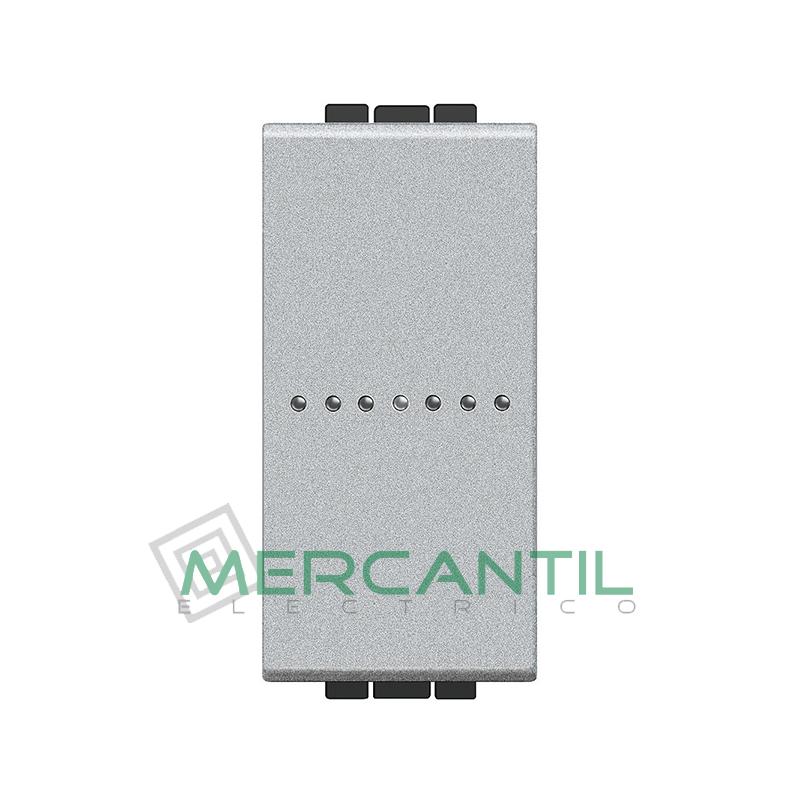 Interruptor Iluminable Axial 1 Modulo Living Light BTICINO - Embornamiento Automatico Tech