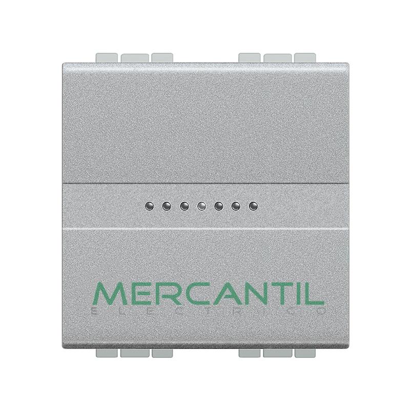 Conmutador Iluminable Axial 2 Modulos Living Light BTICINO - Embornamiento Automatico Tech