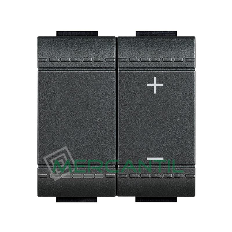 Regulador 0 - 10 V por Pulsacion 2 Modulos Living Light BTICINO Antracita