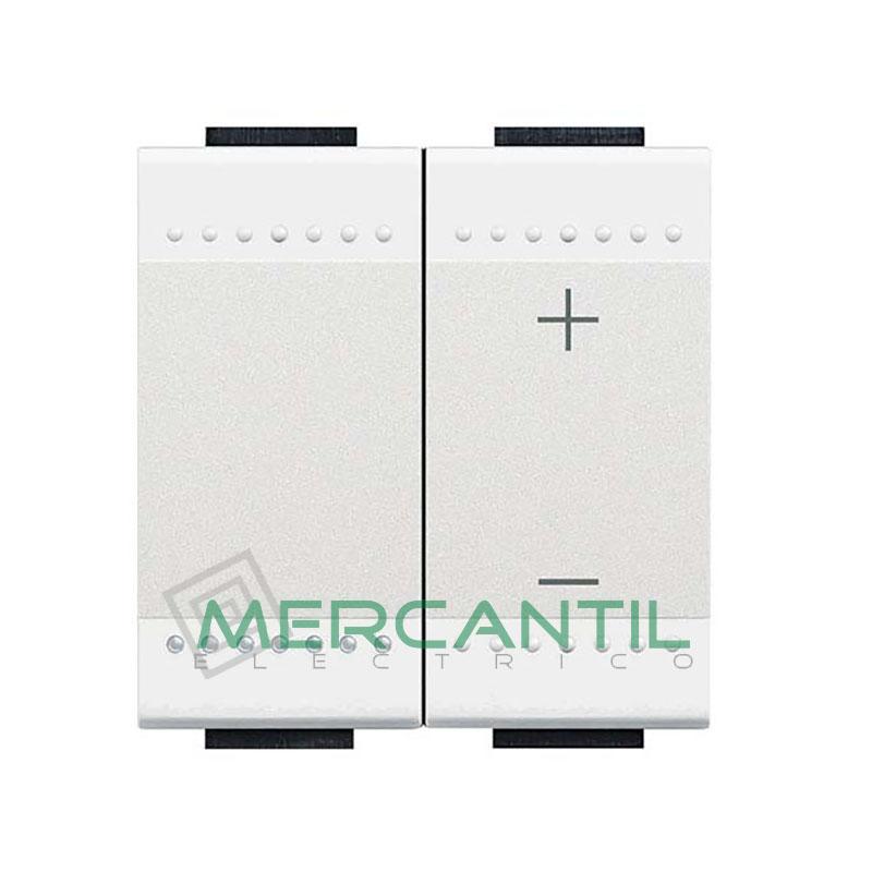 Regulador 0 - 10 V por Pulsacion 2 Modulos Living Light BTICINO Blanco