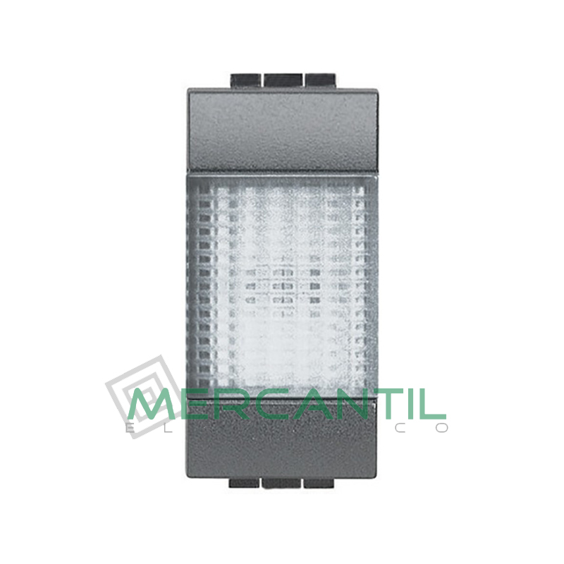 Portalamparas con Difusor 1 Modulo Living Light BTICINO - Color Transparente Antracita