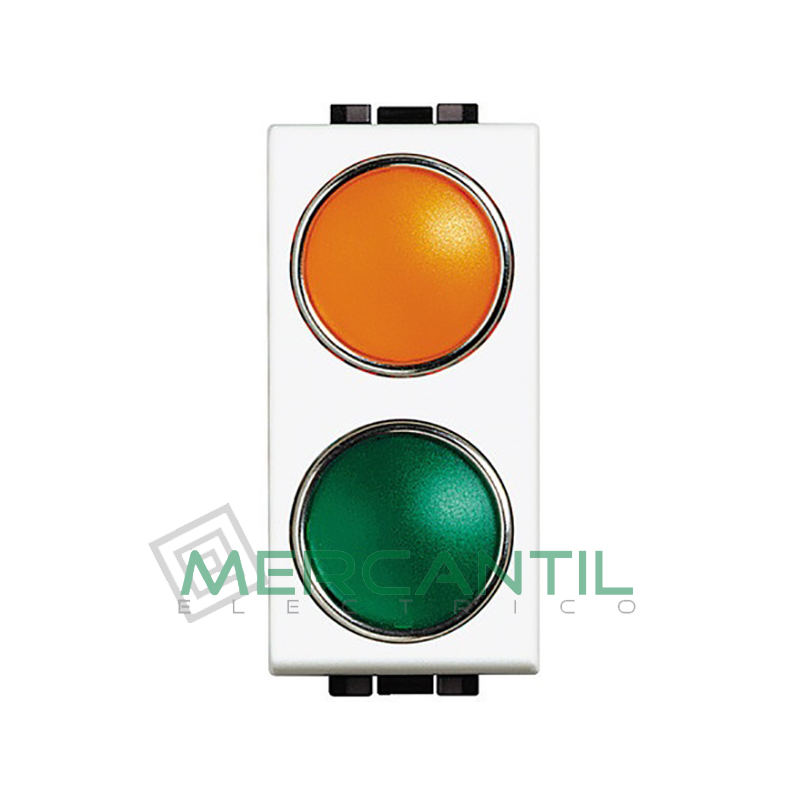Portalamparas con Difusor 1 Modulo Living Light BTICINO - Color Naranja-Verde Blanco