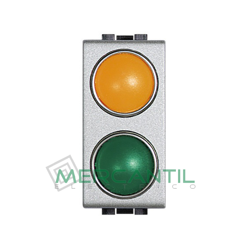 Portalamparas con Difusor 1 Modulo Living Light BTICINO - Color Naranja-Verde Tech