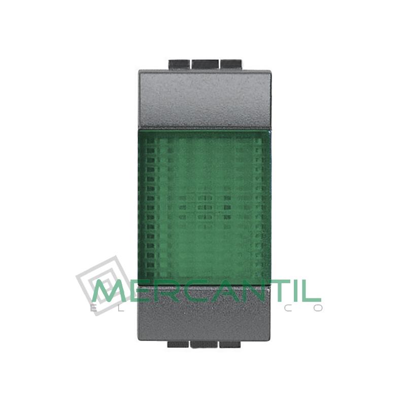 Portalamparas con Difusor 1 Modulo Living Light BTICINO - Color Verde Antracita