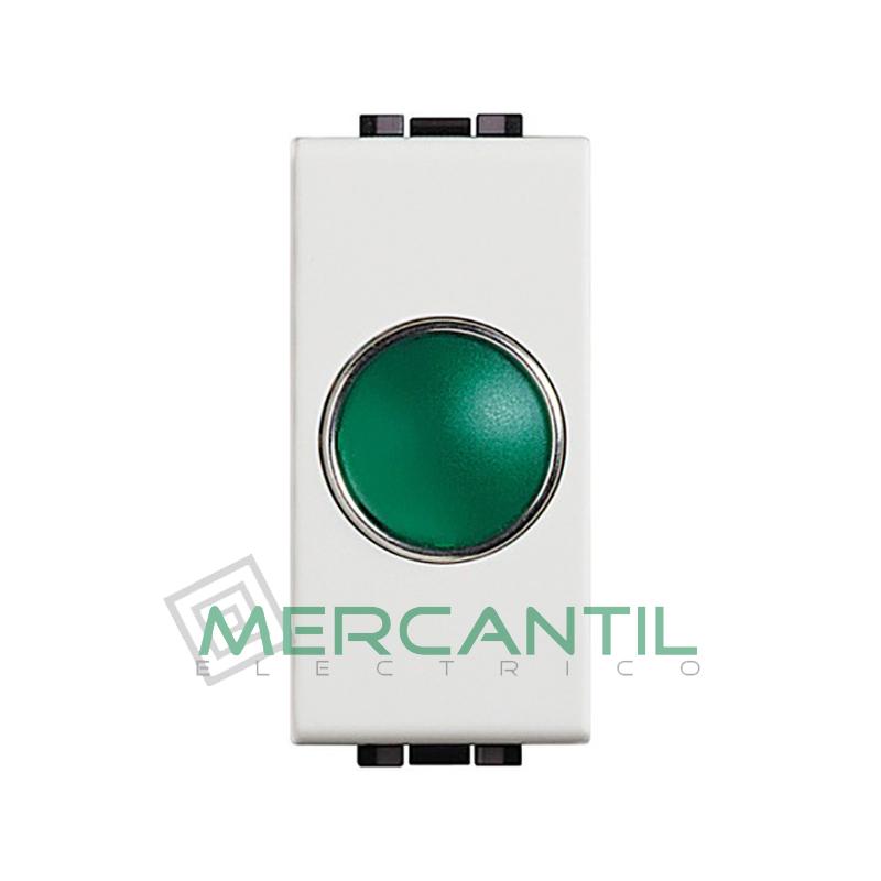 Portalamparas con Difusor 1 Modulo Living Light BTICINO - Color Verde Blanco