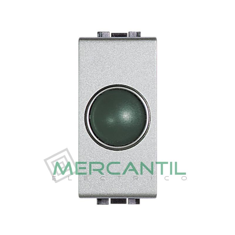 Portalamparas con Difusor 1 Modulo Living Light BTICINO - Color Verde Tech