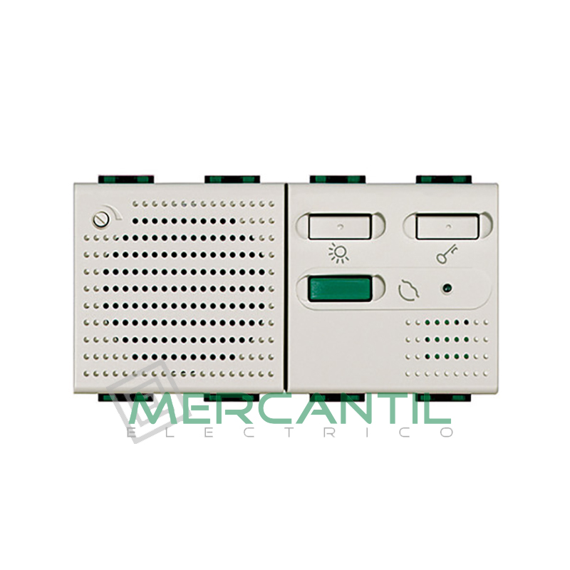 Timbre Electronico 12V 2 Modulos Living Light BTICINO Blanco