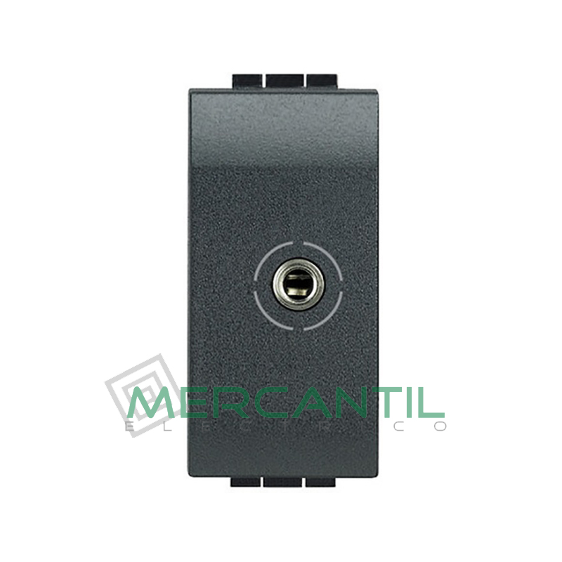 Base Jack 3.5 mm 1 Modulo Living Light BTICINO Antracita