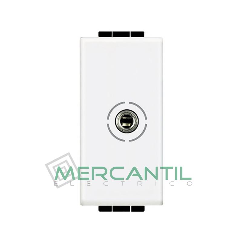 Base Jack 3.5 mm 1 Modulo Living Light BTICINO Blanco