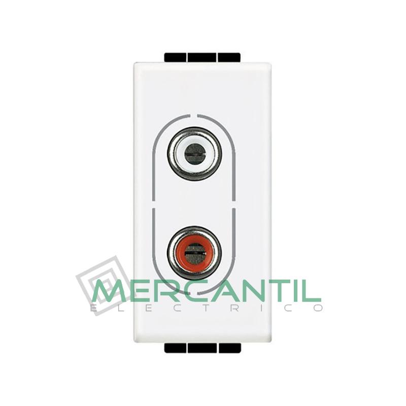 Base RCA x 2 1 Modulo Living Light BTICINO Blanco