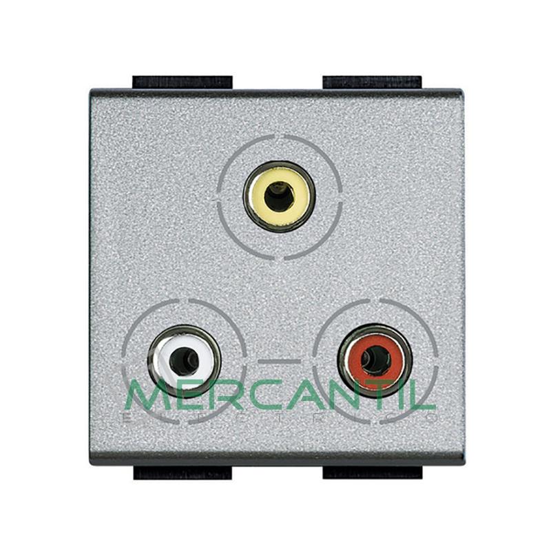 Base RCA x 3 2 Modulos Living Light BTICINO Tech