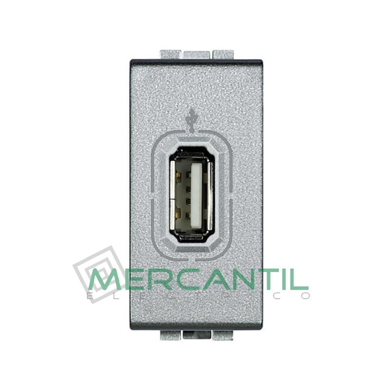 Base USB con Tension 1 Modulo Living Light BTICINO Tech