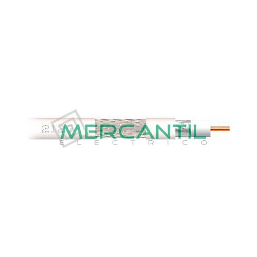 Cable Coaxial Acero/Cobre TELEVES CXT1 Blanco PVC (100 mts)