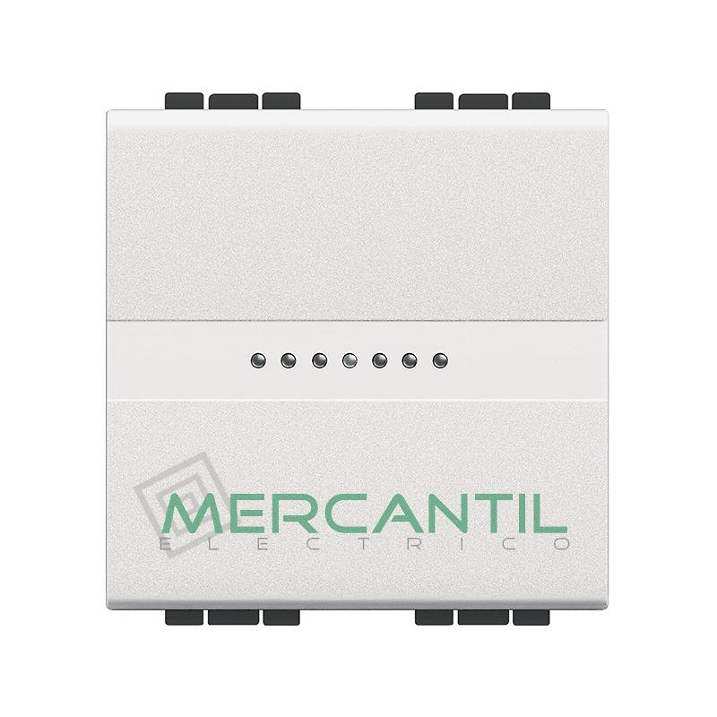 Conmutador Iluminable Axial 2 Modulos Living Light BTICINO - Embornamiento Automatico