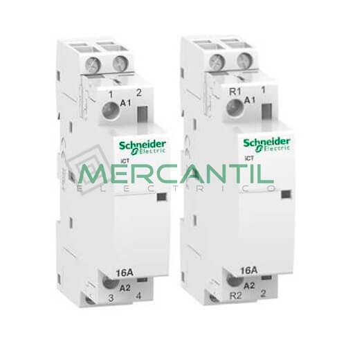 Contactor Modular ICT (16A, 230/240V CA) SCHNEIDER Ref: A9C22712