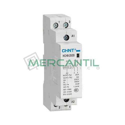 Contactor Modular NCH8 20A (Contactos: 1NO+1NC, T.Bobina: 230Vca) CHINT Ref: NCH8-20-11-230