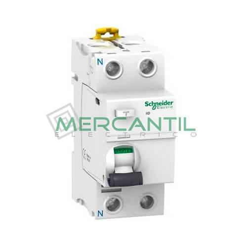 Diferencial Superinmunizado iID 2P (Calibre 25A, Sensibilidad 30mA) SCHNEIDER Ref: A9R61225