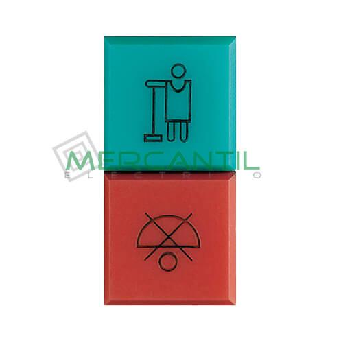 Difusor Rojo y Verder para Hotel Iluminable 1 Modulo Axolute BTICINO
