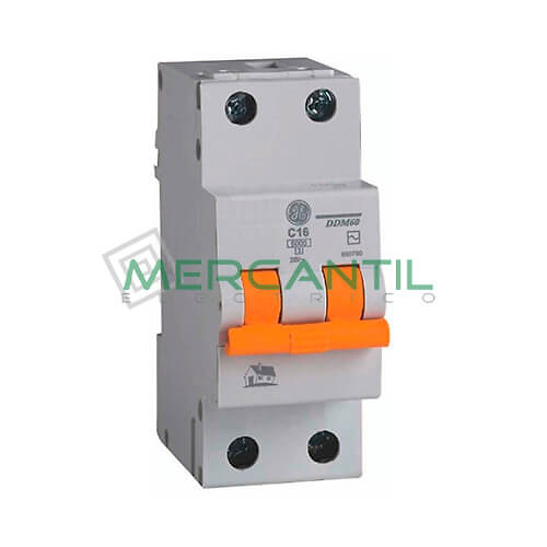 Interruptor Automático Magnetotérmico 1P+N 10A Serie DMS Sector Vivienda GENERAL ELECTRIC Ref: 690563