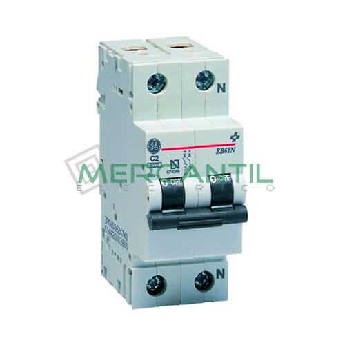Interruptor Automático Magnetotérmico 2P 10A Serie EB60 Sector Residencial GENERAL ELECTRIC Ref: 674065