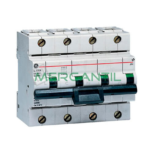 Interruptor Automático Magnetotérmico 4P 80A Serie Hti Sector Industrial GENERAL ELECTRIC Ref: 671546