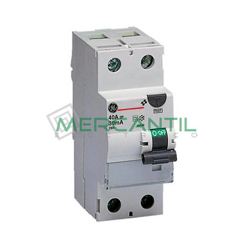 Interruptor Diferencial 2P (25A, 30mA) Serie FP Sector Residencial-Terciario GENERAL ELECTRIC Ref: 604250