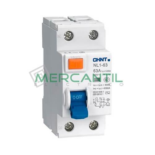 Interruptor Diferencial Superinmunizado NL1(Si) 2P (25A, Sensibilidad 30mA) CHINT Ref: NL1-2-25-30ASi