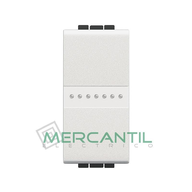 Interruptor Iluminable Axial 1 Modulo Living Light BTICINO - Embornamiento Automatico
