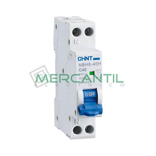 Interruptor Magnetotérmico DPN NBH8 1P+N (6A, Poder de Corte: 4.5kA) Sector Doméstico CHINT Ref: NBH8-1N-6C4.5