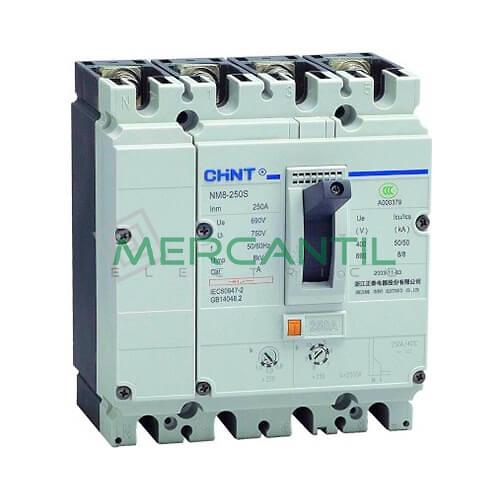 Interruptor de Caja Moldeada Electromecánica NM8 4P (100A, 125S, 50kA) CHINT Ref: NM8-125S-4P-100A