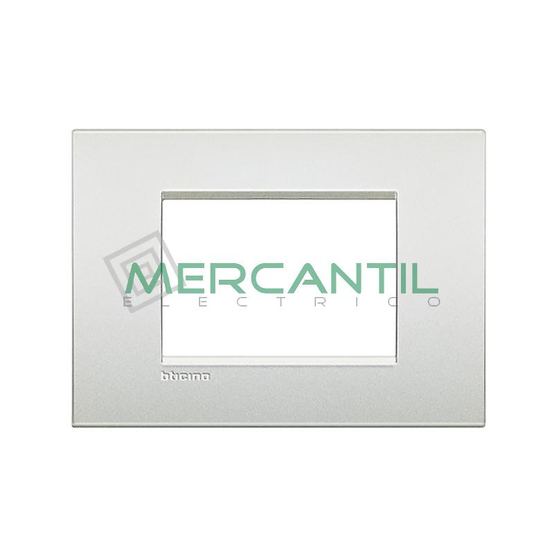 Marco Cuadrado Rectangular Living Light Air BTICINO - Color Blanco Perla