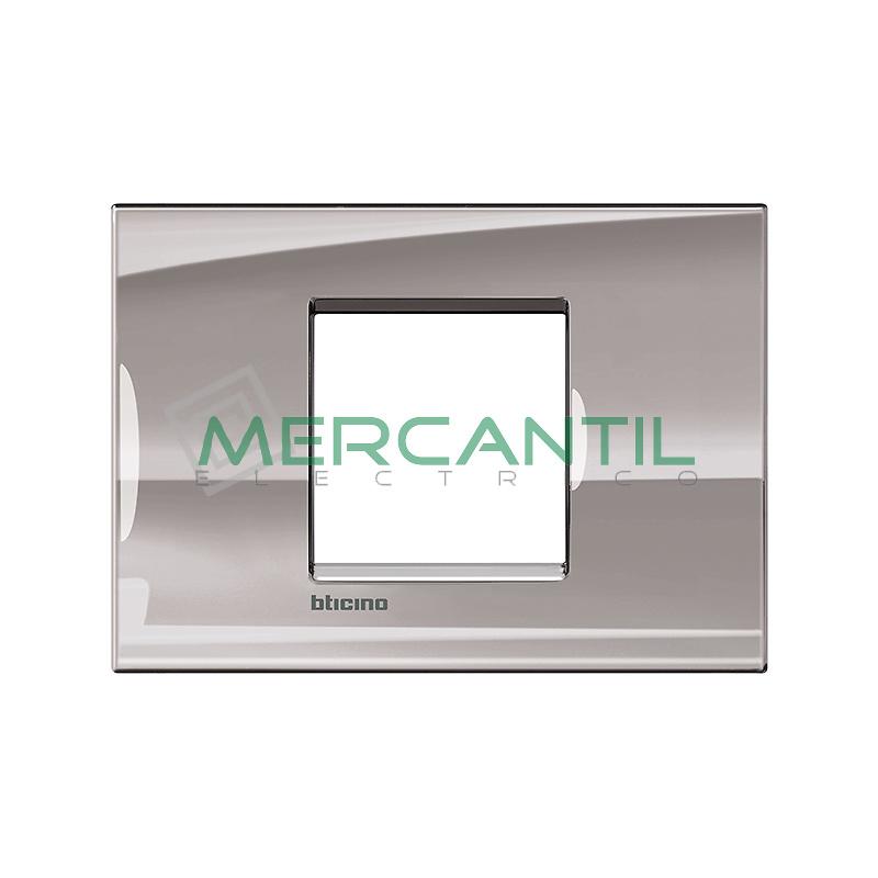 Marco Cuadrado Rectangular Living Light BTICINO - Color Niquel