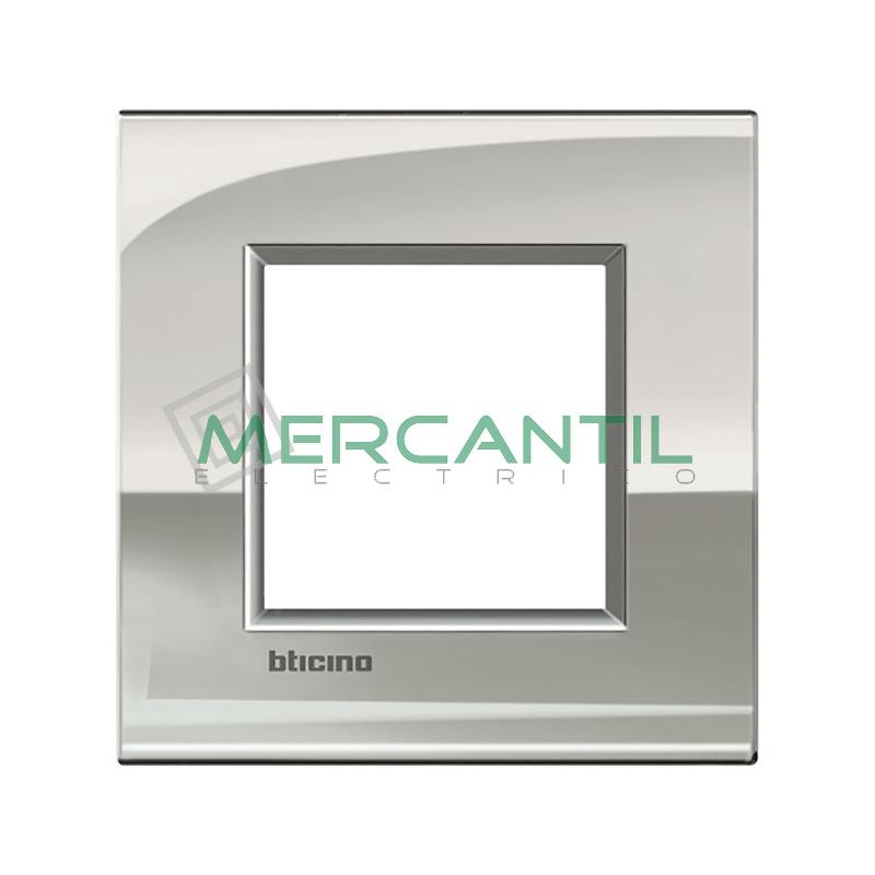 Marco Cuadrado Universal Living Light Air BTICINO - Color Paladio