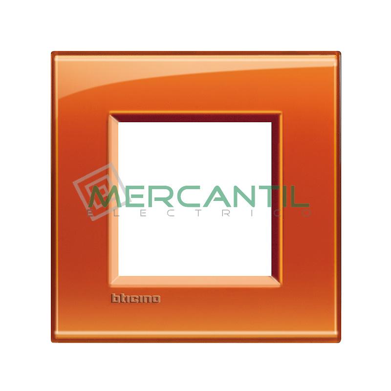 Marco Cuadrado Universal Living Light BTICINO - Color Naranja