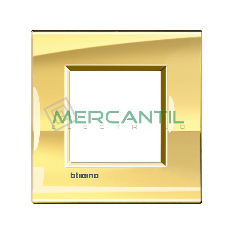 Marco Cuadrado Universal Living Light BTICINO - Color Oro Frio