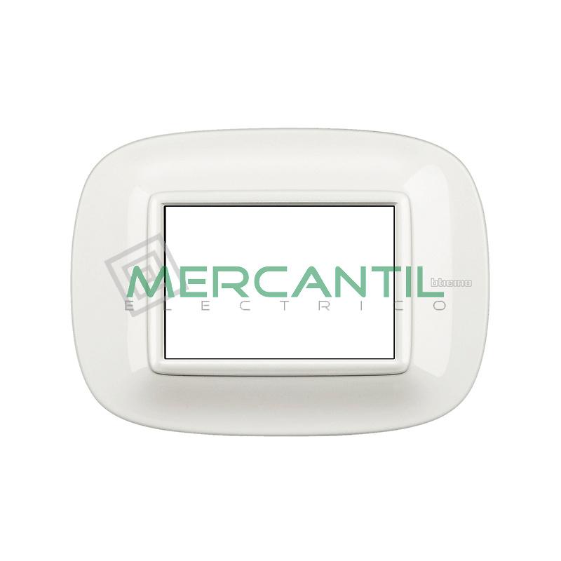Marco Eliptico Rectangular Axolute BTICINO - Color Blanco AXOLUTE