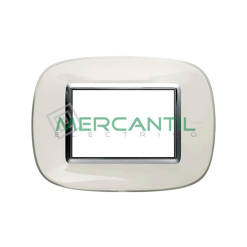 Marco Eliptico Rectangular Axolute BTICINO - Color Blanco Liquido