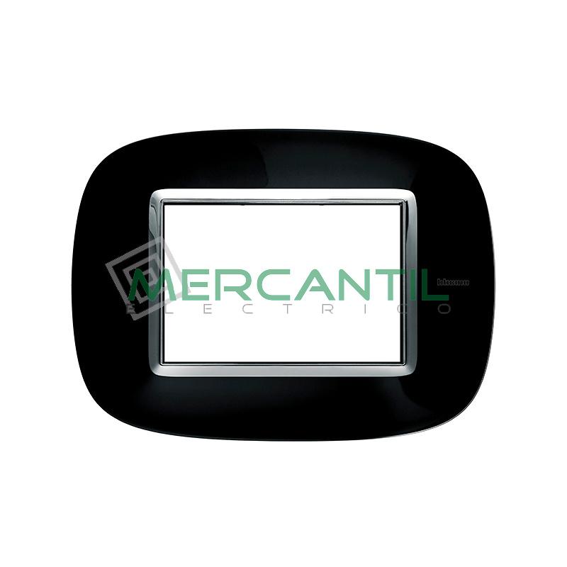 Marco Eliptico Rectangular Axolute BTICINO - Color Negro Solido
